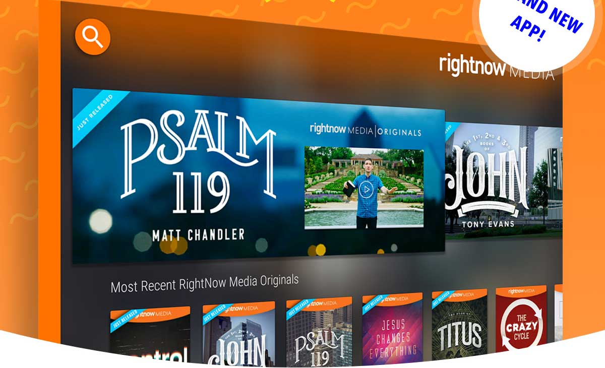Get RightNow Media on your Amazon Fire TV. Stream all your favorite video bible studies on your Amazon Fire TV with our brand new app.
