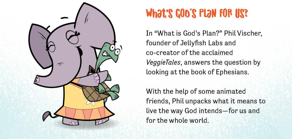 "What's God's plan for us? In ""What is God's Plan?"" Phil Vischer, founder of Jellyfish Labs and co-creator of the acclaimed VeggieTales, answers the question by looking at the book of Ephesians."